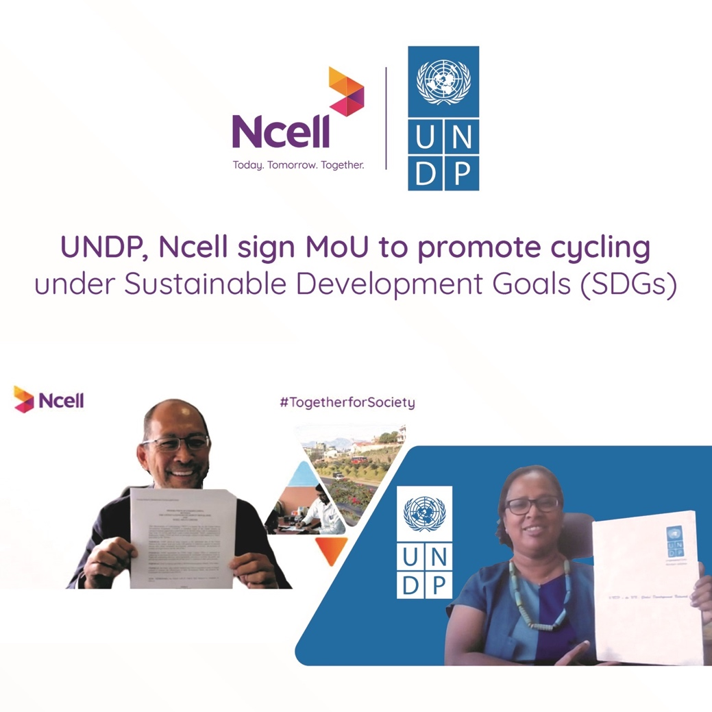 UNDP and Ncell partner for Cycling Promotion under Sustainable Development in Nepal